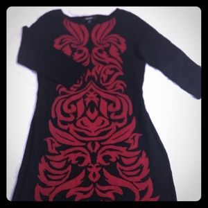 Nine West black and red dress